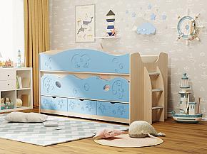 Кровать двухъярусная Омега 10 МДФ