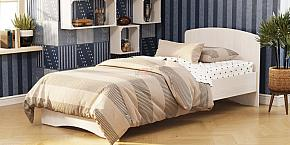 Кровать-2 одинарная с фигурной спинкой