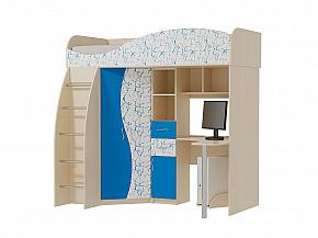 Кровать чердак Омега 9 МДФ