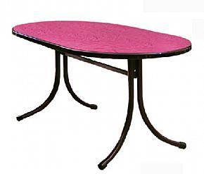 Каркас обеденного стола разборный, Т306У и Столешница овальная 1.2 х 0.8 м (на каркас Т306У), кромка фасонная