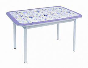 Стол обеденный Стиль 1 фиолетовый/пастель/оливковый.