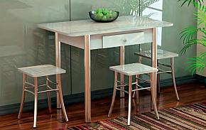 Стол обеденный нераздвижной с ящиком