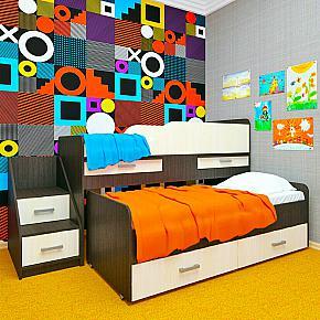 Детская кровать двухъярусная ЛЁСИКИ
